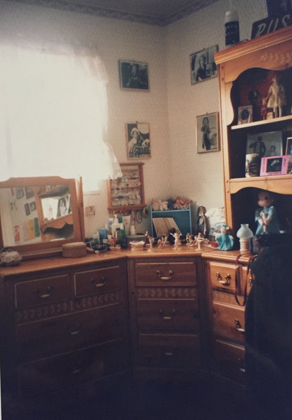A teenager's bedroom in the 1990's.
