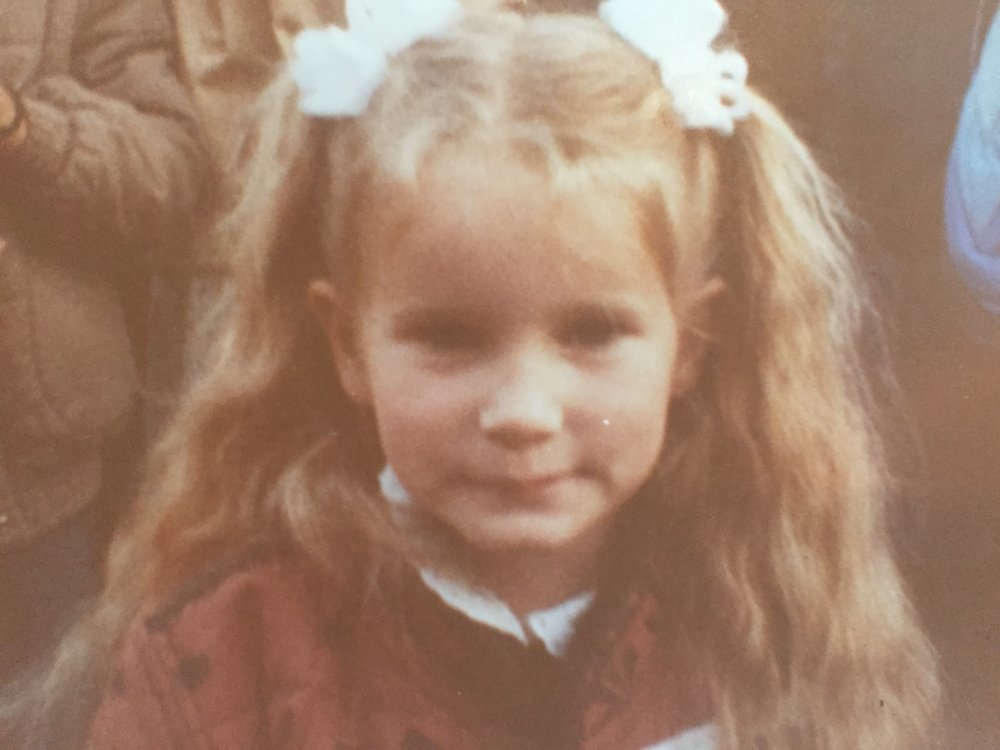 A young girl in the 1980's.