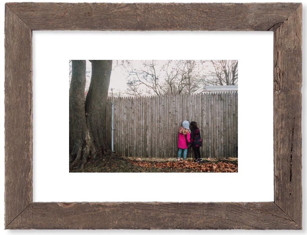 Framed print.