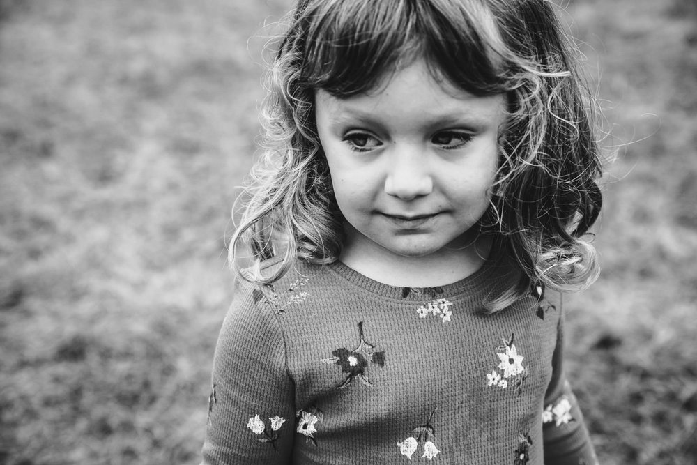 A portrait of a little girl.