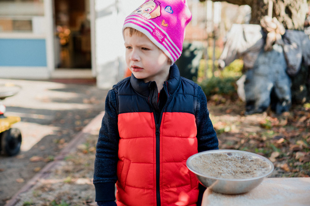Outdoor time at Garden City Nursery School.