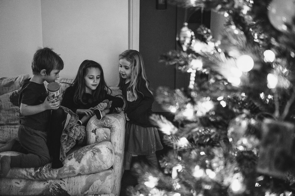 Children on Christmas day.