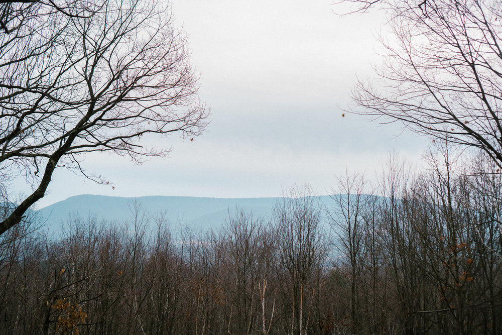 A view of the hills in Copake, New York.