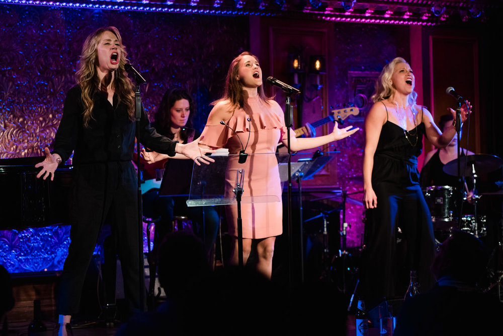 Performers onstage at 54 Below.