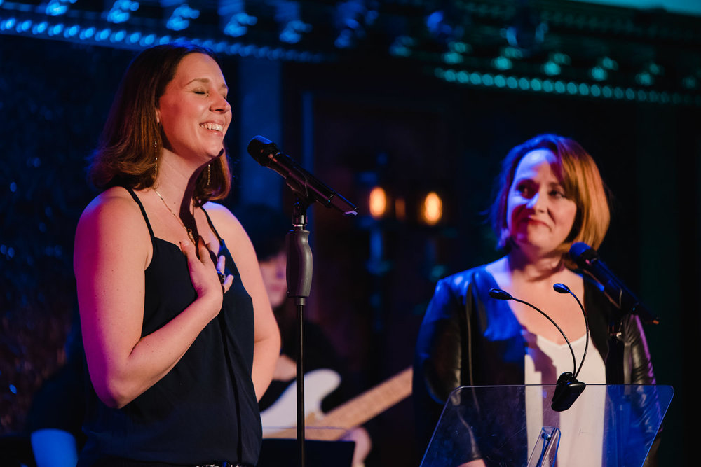 Jessica McRoberts and Happy McPartlin perform at 54 Below.