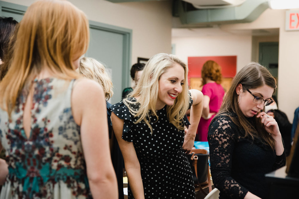 Performers gather backstage at 54 Below.