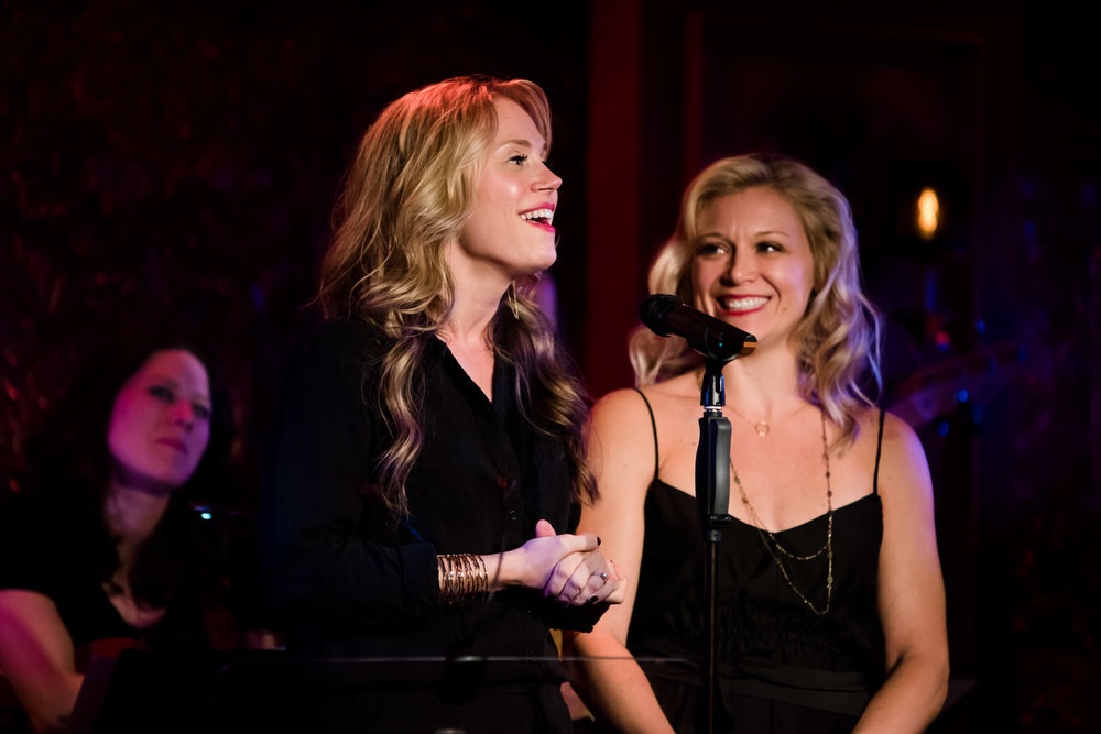 Jessica Rush and Cara Cooper speak at 54 Below.