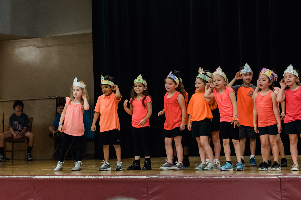 Kindergartners perform in their annual show.