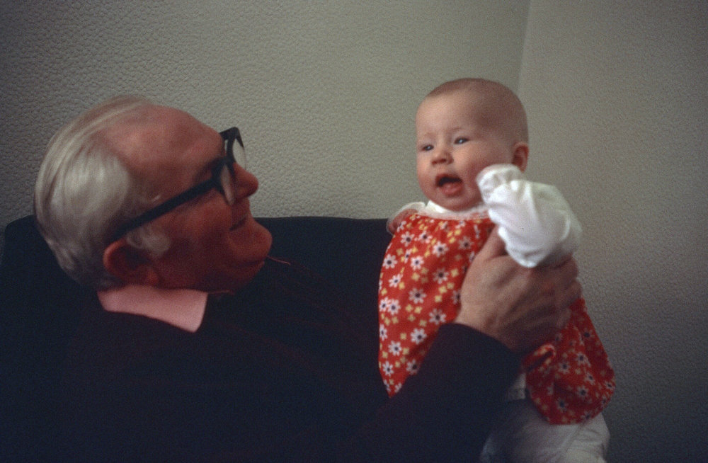 Me with my paternal grandfather.