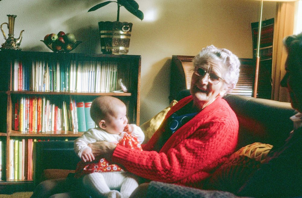 Me with my great-grandmother.