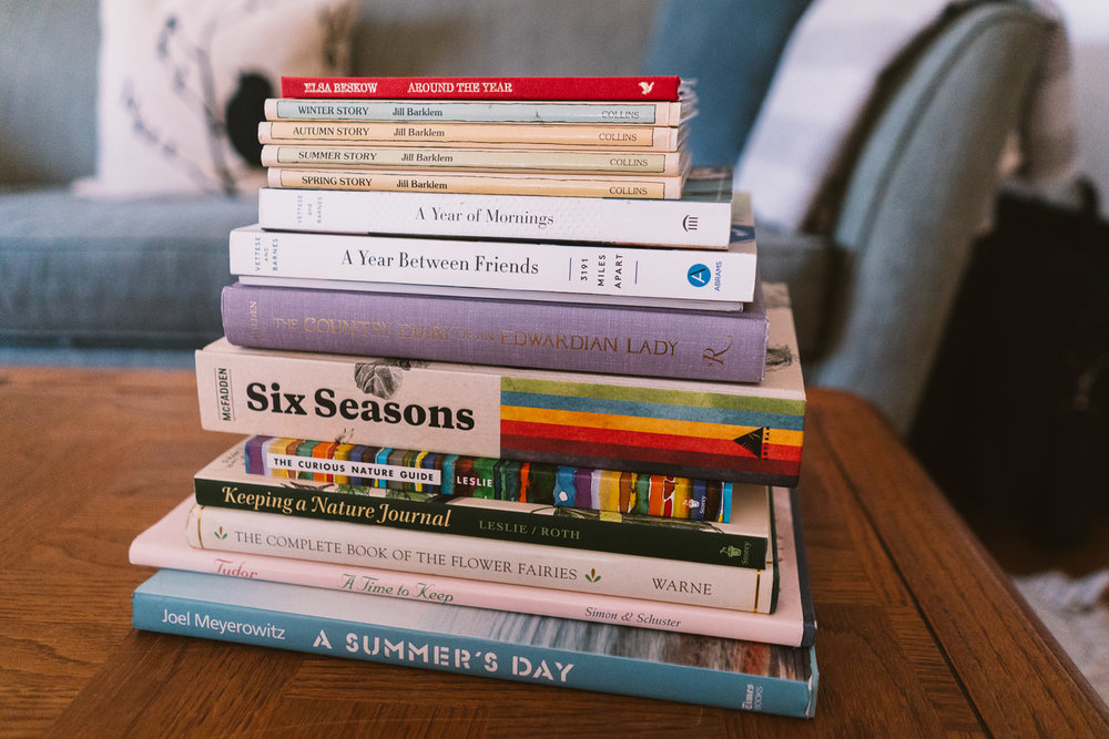 Books inspiring my seasonal project.