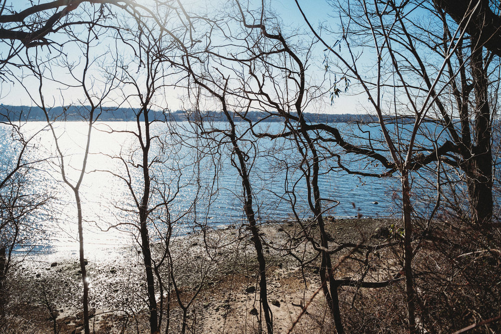 A view of the Long Island Sound from Garvies Point Preserve.