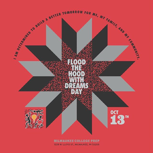 Flood the Hood with Dreams Day ::::: #design #dreamcatcher #books #blacklivesmatter #school #MCP #floodthehoodwithdreams #milwaukee #illustration #tribal #pattern #star #circle #vector #angles #grid #graphicdesign #creative #illustrator #symmetrical