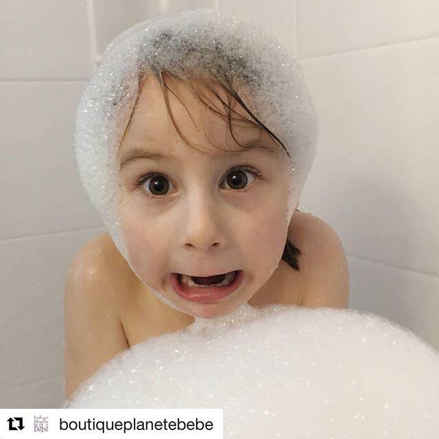 Toujours plaisant de voir que nos bulles font plaisir. Merci MC et @boutiqueplanetebebe du partage 💜 #bellefacedepet #bainmoussant #savonneriesaponaria #lavender #bubblebath #musthave #local