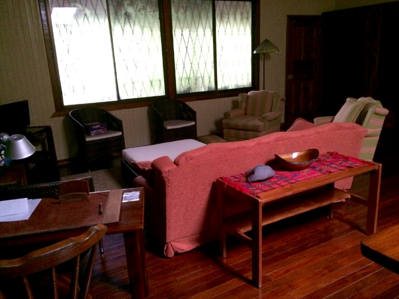 A picture of the front room of the Casona