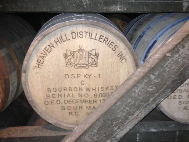 The historic 6,000,000th barrel of Heaven Hill whiskey