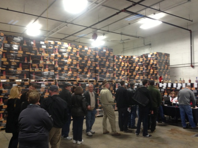 Inside the warehouse at Makers Mark there was a line all day to buy limited edition bottles of Bourbon.