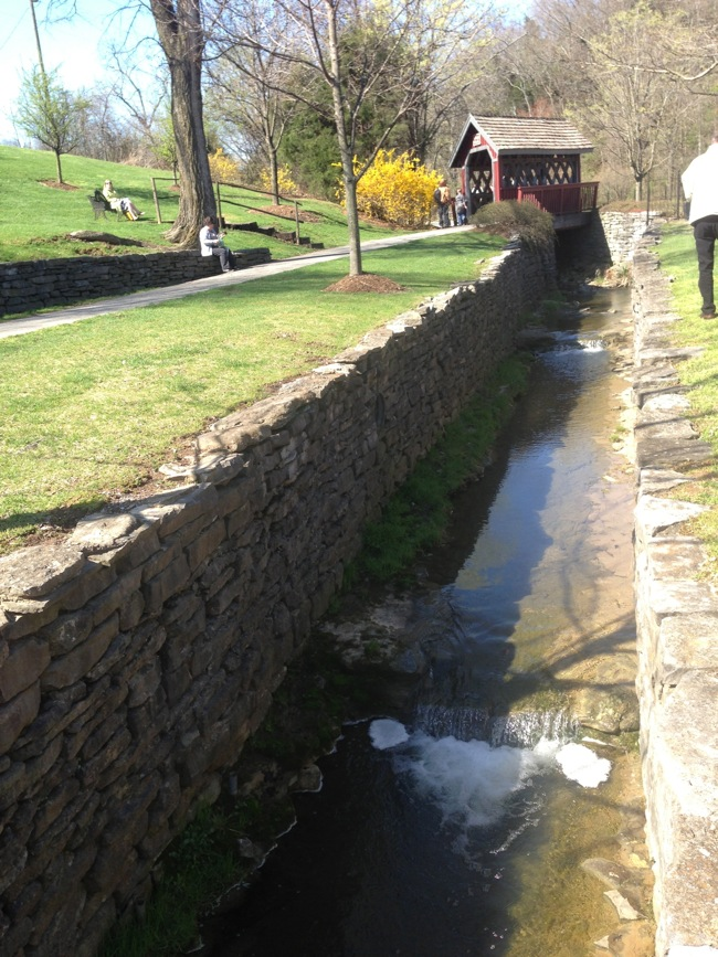 This spring-fed creek supplies the water for Makers Mark's wildly popular bourbon.  Just part of the beautiful grounds at the distillery.
