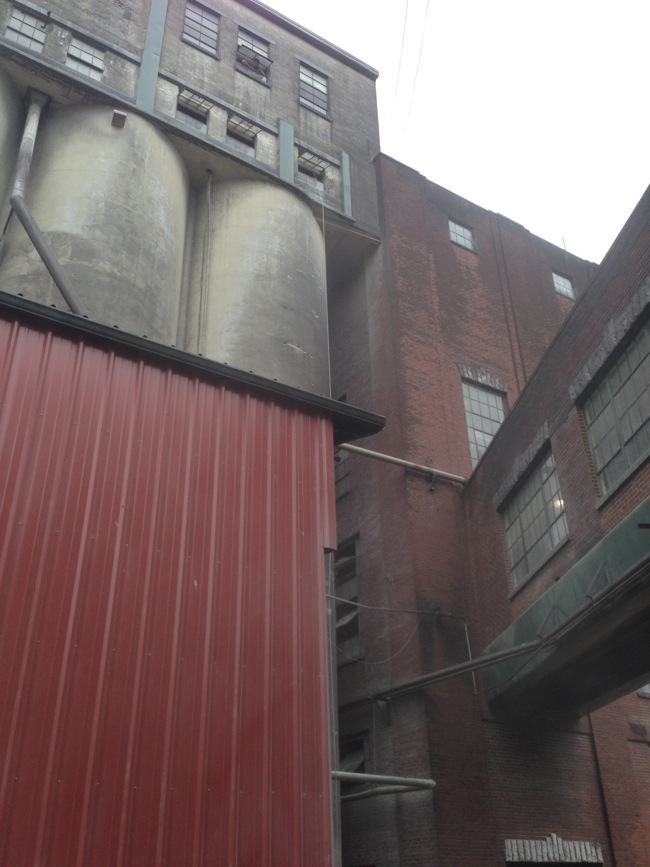 The corn silos at Buffalo Trace are HUGE.