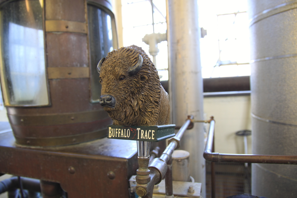 This is a better shot of the tap at the tasting box. From this tap we were allowed to sample raw whiskey from the still. It was a lot sweeter than the other new-make spirits we tried during the week. Photo courtesy of Buffalo Trace.