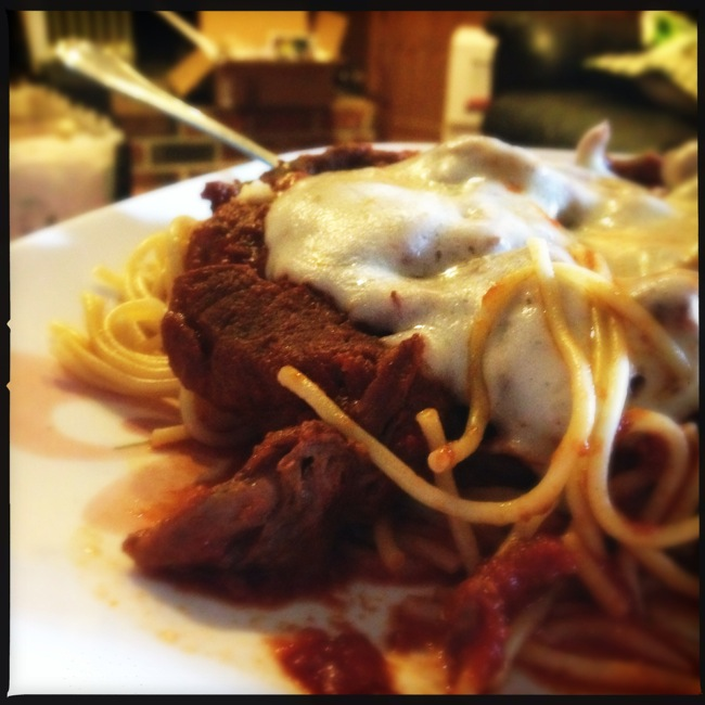 Steak Pizzaiola with Gluten Free pasta