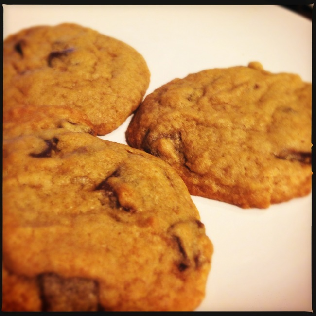 Nothing is better than a warm chocolate chip cookie on a cool summer night.