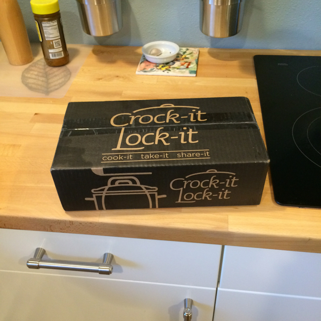 This box arrived from the folks at Crock-it Lock-it