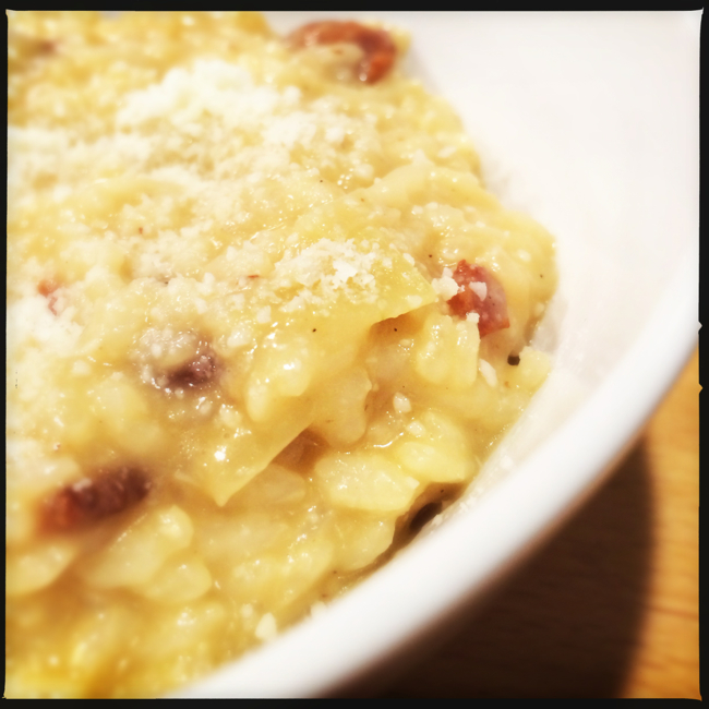 Creamy Risotto kicked up a few notches with Bacon