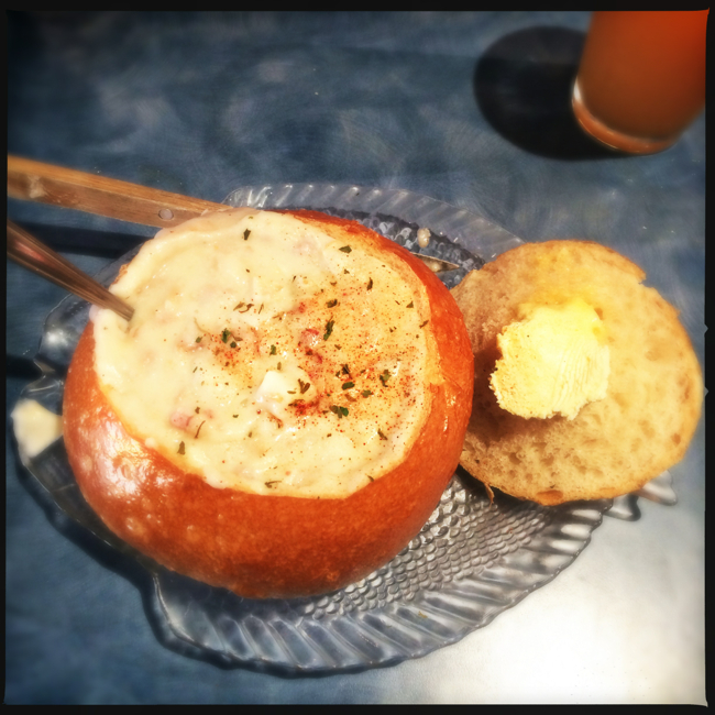 Mo's Chowder Cannon Ball is a full meal for anyone.