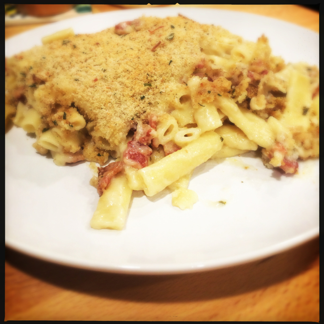 Baked lemon ziti, a light fresh variation on a carbonara is easy and amazing