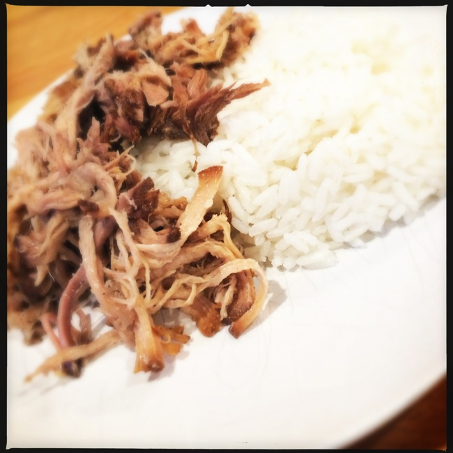 Kahlua Pork with Steamed Rice....so basic yet SOOOOOO amazingly full of flavor and goodness