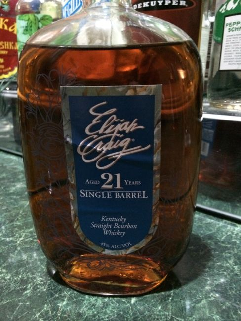21 yo Elijah Craig Single Barrel Bourbon