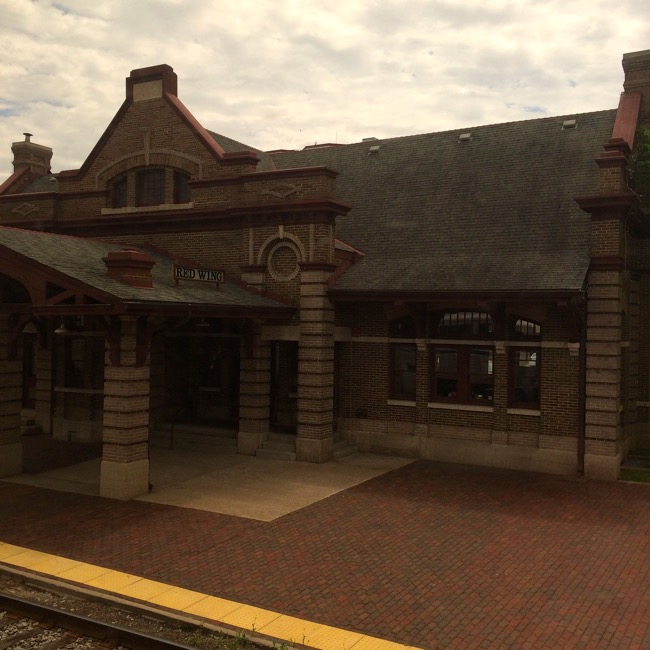 Amtrak Station at Red Wing, Minnesota