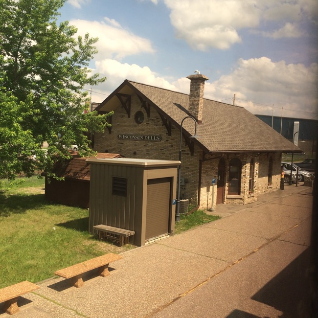 Amtrak Station at Wisconsin Dells.