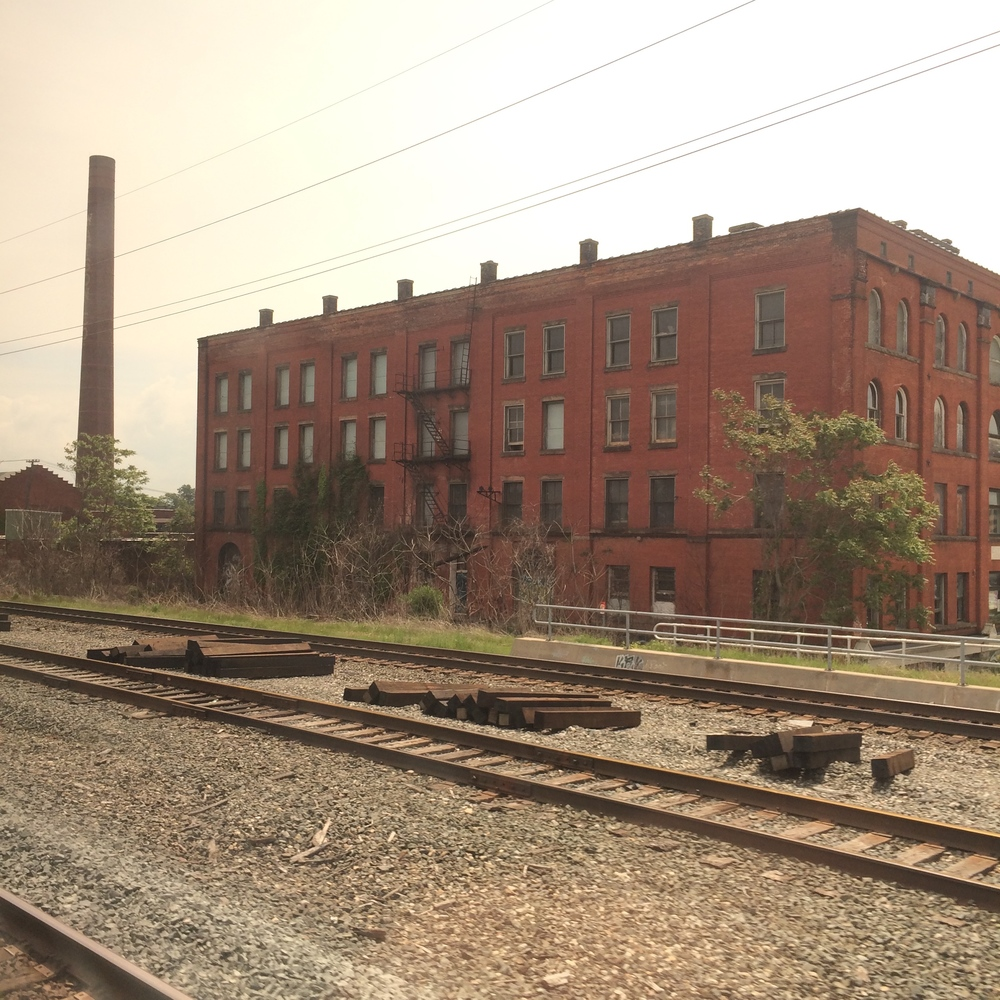 Large abandoned factories like this one were in evidence everywhere along the rails as we passed though Erie, PA.  If you have any questions about what sending our manufacturing to Mexico and Canada has done to America, come ask these folks about how their lives have changed.