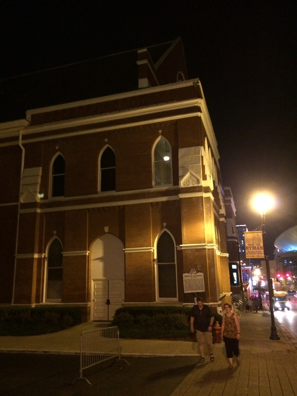 "The Ryman, known far and wide as ""The Church of Country Music"""