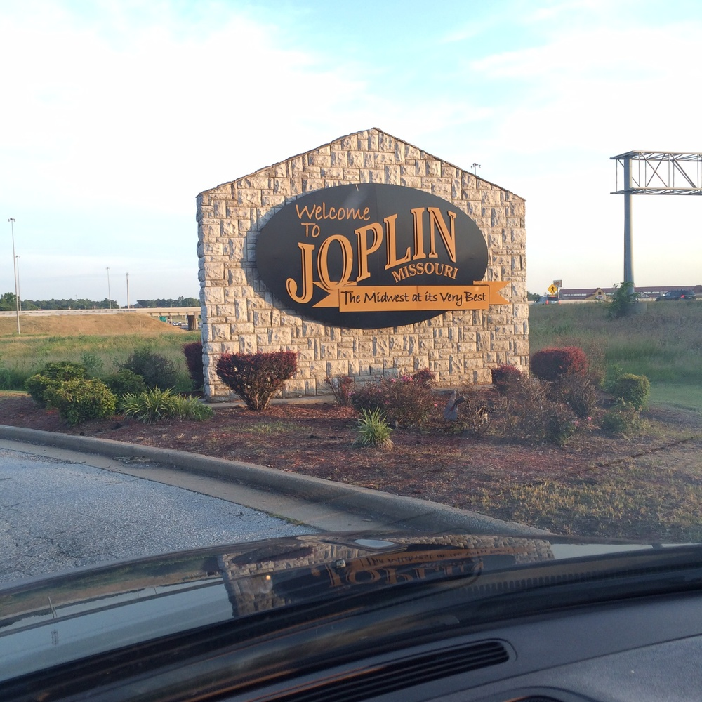 By the time we got to our destination in Joplin, MO the storm had passed and the sun was back.