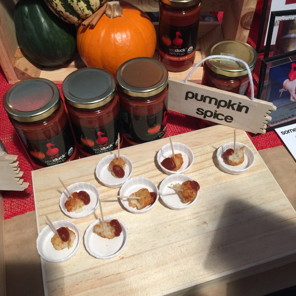 redDuck Foods brought some great sauces, but the most interesting was their Pumpkin Spice ketchup