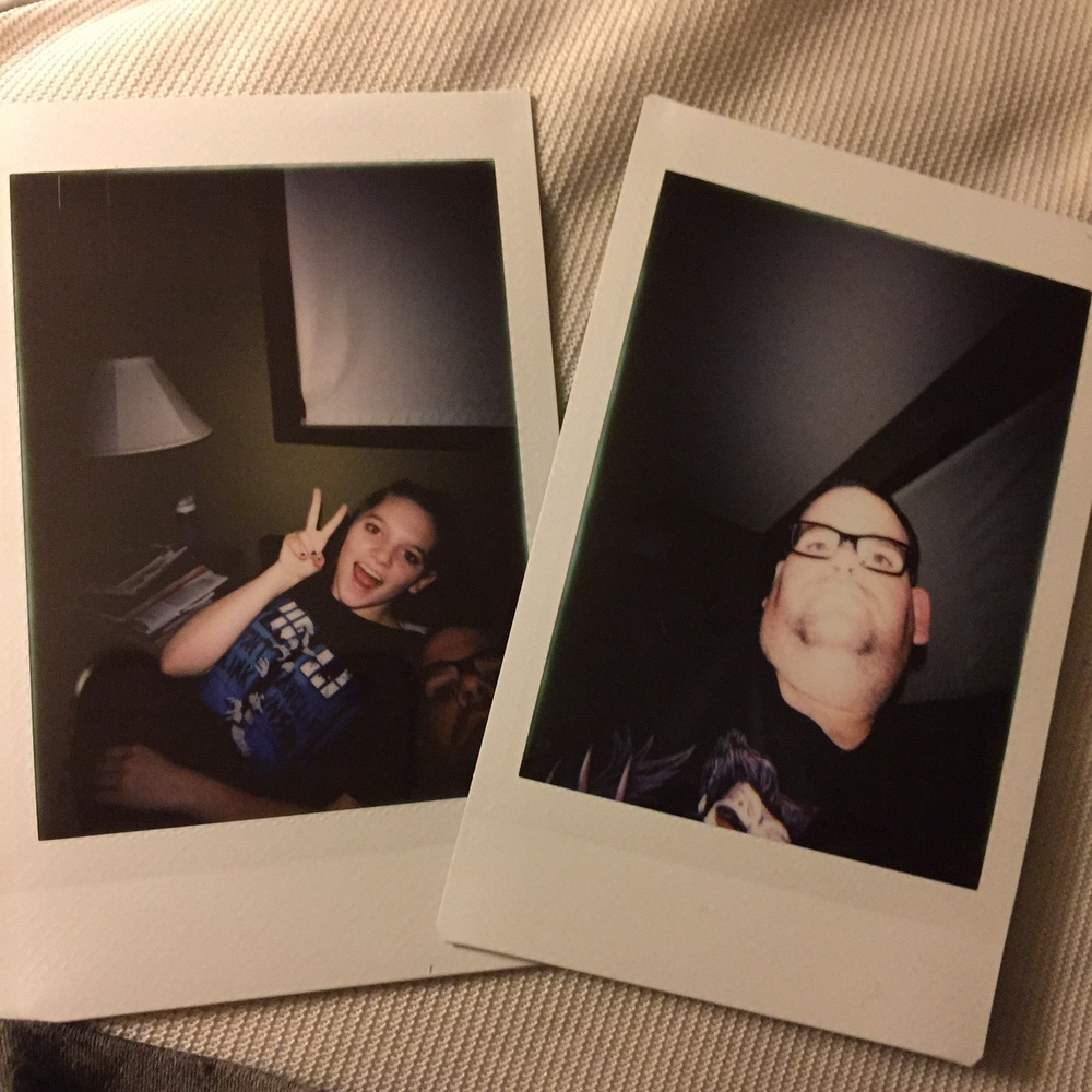 My first two selfies taken with the Lomo Instant