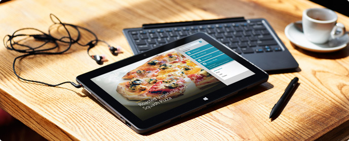 The Dell Venue11 Pro with optional tablet keyboard has a remarkable 20 hour battery life
