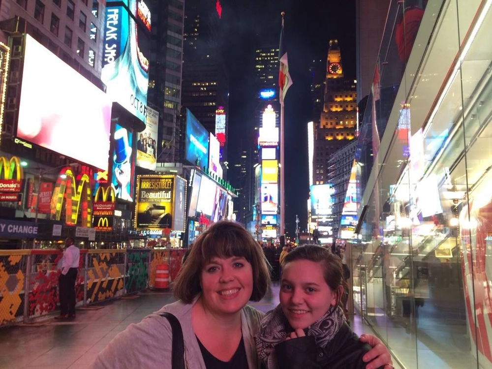 Andrea and I in Times Square