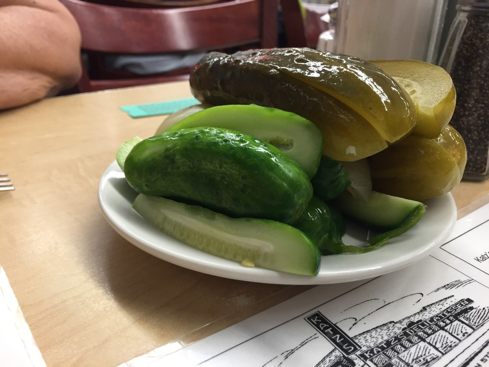 Who can resist house made pickles at a kosher deli?