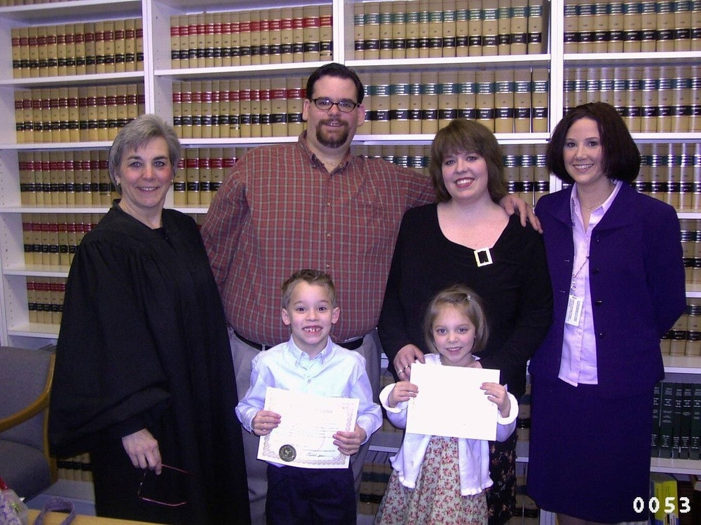 Our family is official, with the Judge and DFS case worker
