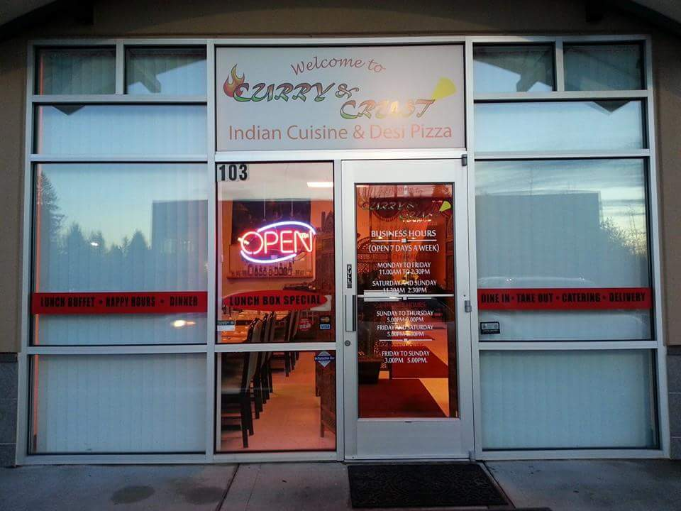 Curry & Crust is right by the MAX stop at Hawthorne Farms