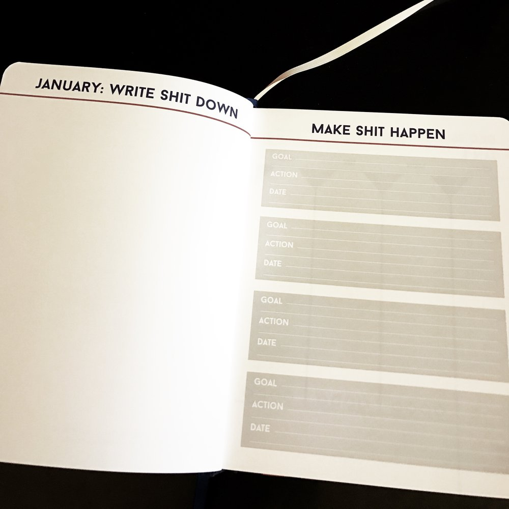 The Make Shit Happen Planner is very intentional about guiding the goal setting process