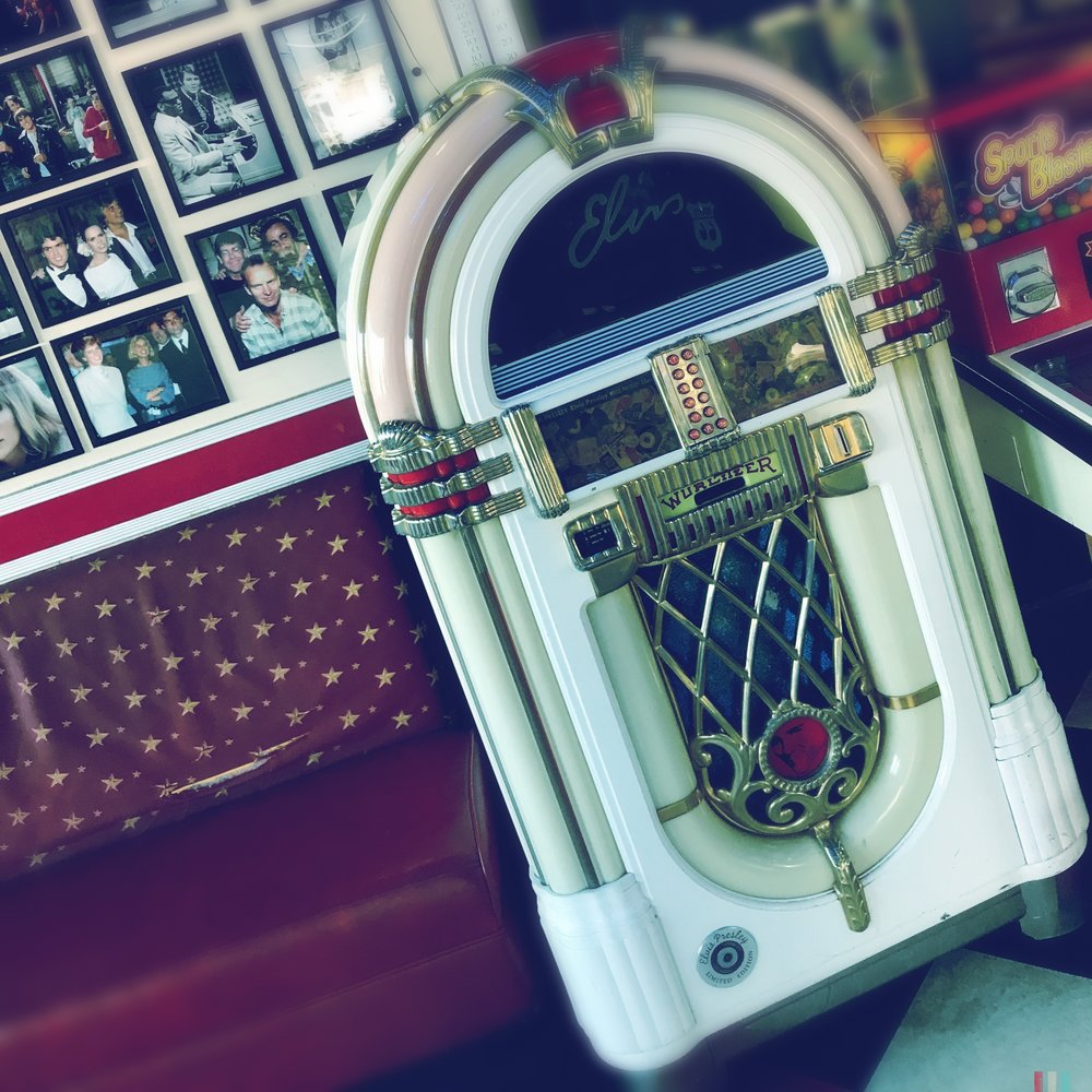 The jukebox at the Galaxy Diner