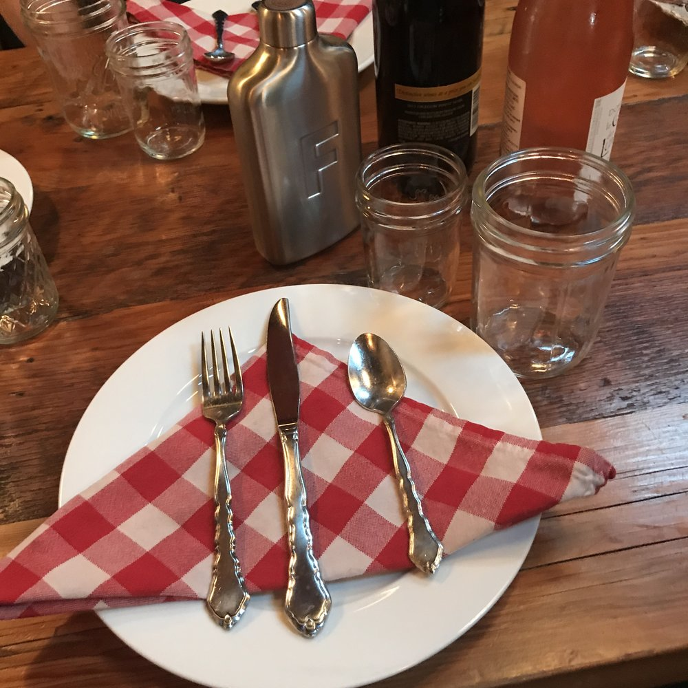 Starting with the place setting, eating at MaePDX was just like a family dinner