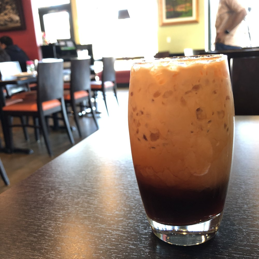 Thai iced tea is a beautiful thing