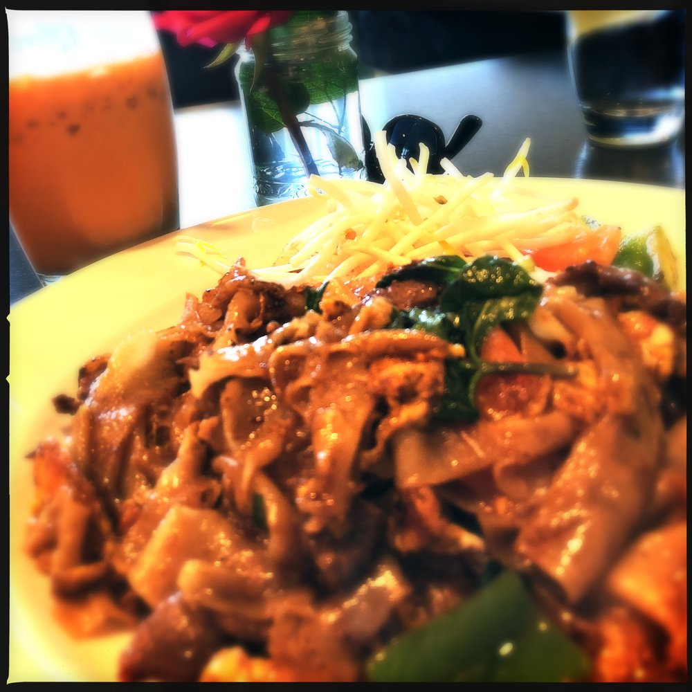 Spicy Drunken noodles with Beef are always a great choice for good meal
