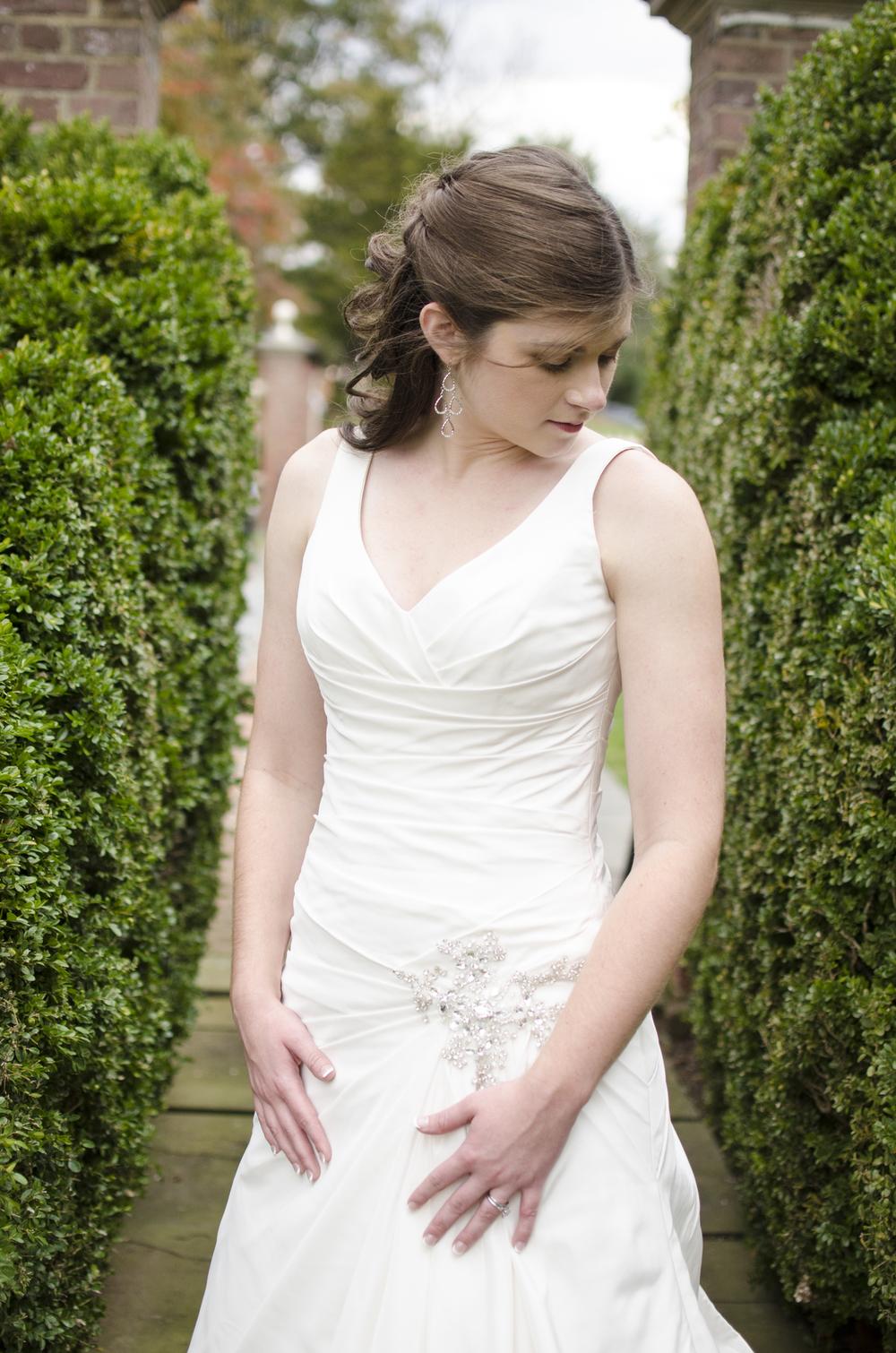 Bride at Newton White Mansion in Baltimore, Maryland